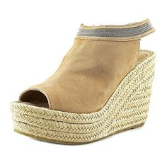 Delman Aria Women US 11 Tan Wedge Sandal -- Find similar products by clicking the image