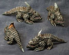 painted burrowing horror | Next up on the painting table from Reaper's Kickstarter II is this ...