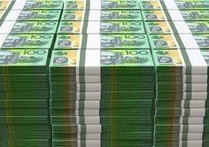 Australian Dollar Notes Pile Stock Image - Image of cash, greenbacks: 43242281 Gold Money, My Money, Money From Home, How To Get Money, Australian Money, Jackpot Winners, Wealth Quotes, Money Notes, Dollar Money