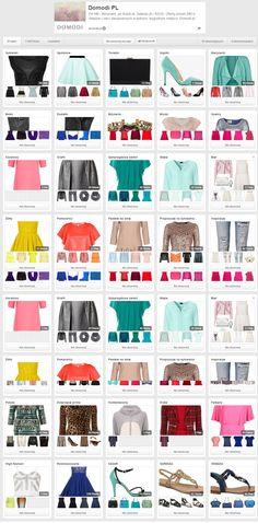 Domodi PL na Pintereście - fajnie pogrupowane produkty- wg marek, kolorów, częsci garderoby http://www.pinterest.com/domodipl/