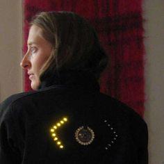 Jacket features turn signal LEDs