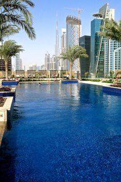Pool at JW Marriott Marquis Hotel in Dubai #dubai #uae