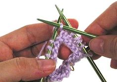 Knitting in the Round on Double Pointed Needles, Step 5
