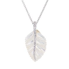 Swept Away#Necklace (1266). Made of Rhodium with genuine mother of pearl and clear SWAROVSKI ELEMENTS.  #jewelrytrend #fashionjewelry #jewelry