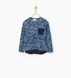 Image 1 of Top with double layer hem from Zara