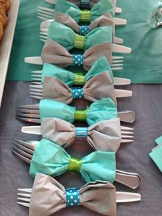 Mustache baby shower utensils Bikinis, Swimwear, Lil Baby, Bows, Fathers Day, Table Settings, Accessories, Baby Shower, Fashion