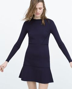 Bringing back the 40s in this Long Sleeve Mini Dress by Zara