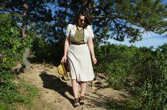 The Closet Historian.  Bolero + A-line skirt