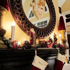 Santa Claus Christmas Mantel