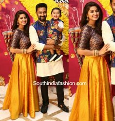 Radhika Sarathkumar's Daughter Rayanne - Mithun Wedding Gallery Part 1 - Gethu Cinema Mom Daughter Matching Dresses, Mom And Son Outfits, Mom And Baby Dresses, Baby Boy Dress, Family Outfits, Twin Outfits, Couple Outfits, Churidar, Anarkali