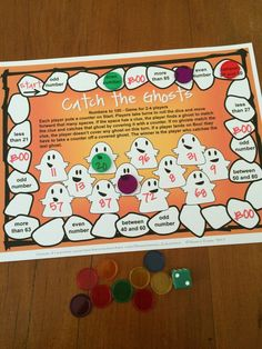 FREEBIE - Cute ghosts on this Catch the Ghosts number game from Games 4 Learning!
