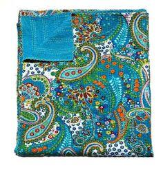 Indian-Handmade-Quilt-Vintage-Kantha-Bedspread-Throw-Cotton-Blanket-Gudari-Queen