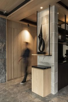 Best Design Trends of 2019 - Fluid Shapes Office Interior Design, Office Interiors, Home Interior, Modern Interior, Interior Architecture, Interior Ideas, Column Design, Lobby Design, House Entrance
