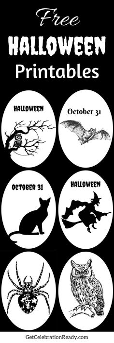 Free Halloween Printables are great for easy DIY Halloween projects. Print them at home, put them in a black frame and they look good on the mantel with other Halloween decor.