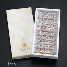 YUKIZURIは、石川県を代表する「兼六園の雪吊り」をイメージした辻口パティシエイチオシのお菓子です。