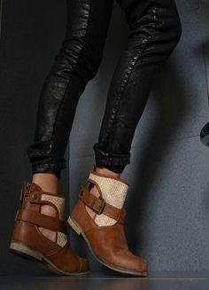 Kup mój przedmiot na #Vinted http://www.vinted.pl/kobiety/botki/8371594-modne-botki-sztyblety-braz-zamek-tyl-roz3637