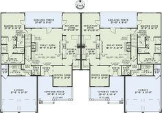 Spacious Duplex Home Plan - 60549ND   1st Floor Master Suite, Bonus Room, Butler Walk-in Pantry, CAD Available, PDF   Architectural Designs