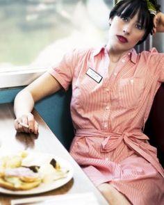 Shoot for Jerk Magazine. 1950s diner theme shot at Doc's Little Gem