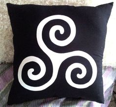 Teen Wolf Inspired Triskele and Triskelion Pillow