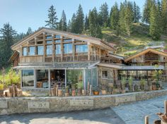 his new auberge is made using recycled timber from local barns and farmhouses and is equipped with high-tech gear—photovoltaic solar collectors and a biomass boiler. Veyrat's spectacular—and expensive—new age Alpine cooking: duckling cooked in pine-tree bark; soft-boiled egg injected with wood sorrel jus; fera, a fine Alpine lake fish, lacquered with a sauce made from coffee and burned bread crumbs; a black-and-white chocolate mille-feuille with wild thyme sauce.