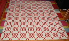 wow.. Antique postage stamp quilt 1880s