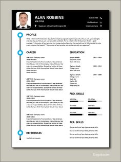 Immediately download this Free CV template. This example is in Microsoft Word (DOC) format, easy to edit, printable and can be fully customised. Ideal for any job application. #CV #template #Resume #Free #Job #application #MS #Word #Download #Professional #Example #CVtemplate Cv Templates Free Download, Any Job, Resume Cv, Job Title, Word Doc, Microsoft Word, Ms, How Are You Feeling, Printable