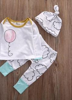 e4c2f779a34 Newborn Baby Infant Boy Girl Warm Cotton Tops T-shirt Pant Outfit Set  Clothes