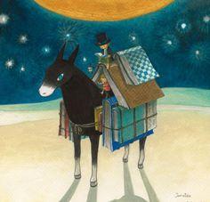 Biblioburro, lectura viajera (ilustración de Junaida)