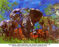 LeRoy Neiman: Elephant Stampede