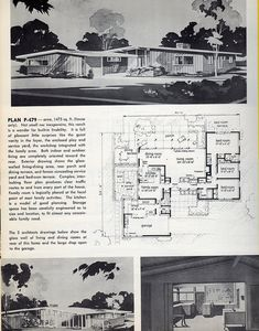 Plan P-479: 1961 | Flickr - Photo Sharing! 3 Bed, 2.5 Bath, Garage, small Pool