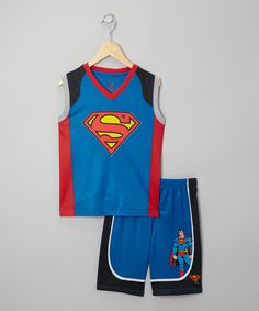 Look at this Blue Superman Mesh Pajama Set - Boys on #zulily today!