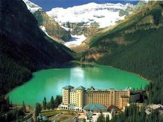 Lake Louise - Alberta, Canada. Went in 1996...this lake is always emerald! I would recommend for a honeymoon!