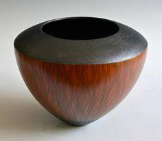 Ceramics by Sue Hanna at Studiopottery.co.uk - 2012. Collaboration pot 2 with Ashraf  Hanna raku terra sigillata