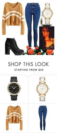 """""""Untitled #119"""" by stylefever ❤ liked on Polyvore featuring Michael Kors, Topshop and H&M"""