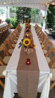 Red Sunflower Wedding, Sun Flower Wedding, Sunflower Party, Rose Wedding, Fall Wedding, Perfect Wedding, Rustic Wedding, Sunflowers And Roses, Wedding Sunflowers