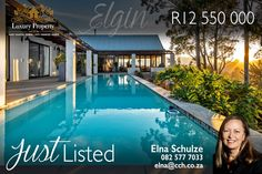 This 9.2166-hectare farm is unique in the sense that you can enjoy the lifestyle and generate an income, without the responsibility of farming. A modern, contemporary architect-designed home. The home offers entertainer size, double volume living spaces that lead out onto the wrap-around veranda and pool. Contact 𝑬𝒍𝒏𝒂 𝑺𝒄𝒉𝒖𝒍𝒛𝒆 on 082 577 7033  / elna@cch.co.za #CCH #overberg #elginvalley #grabouw #lifestylefarm #farmforsale #scenicviews #elginfarm #capecoastalhomes #elnaschulze Luxury Property For Sale, Commercial Property For Sale, Coastal Homes, Real Estate Marketing, Farming, Modern Contemporary, Living Spaces, Country, City