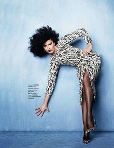 Crystal Renn (Elle Ukraine)