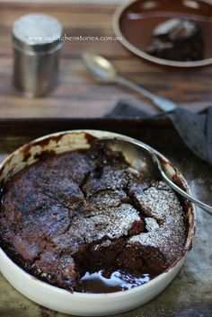 Raspberry, Chocolate and caramel self saucing Pudding- Easy!