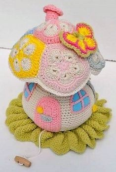 Eye Catching Design Ideas for Crochet Flowers: Today we will talk about different colorful crochet flower patterns and designs to adorn and decorate your Crochet Fairy, Crochet Home, Cute Crochet, Crochet Crafts, Crochet Dolls, Crochet Projects, African Flower Crochet Animals, Crochet Flower Patterns, Crochet Toys Patterns