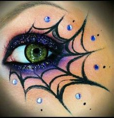 Cob Web Eye Makeup For Halloween