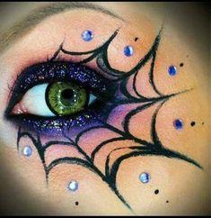 Cob Web Eye Makeup For Halloween