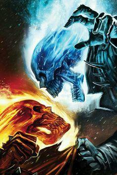 Fire Skull & Ice Skull fighting!!    By:LadySkull