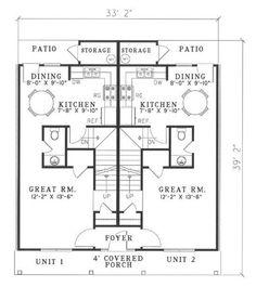 House Plan 17 2270 Architecture Unit Duplex Plans Family