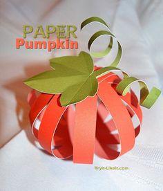 Paper Pumpkin :: Tutorial | Try It - Like It :: craft, eat, read, buy, win, link