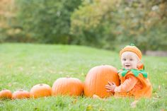 Cute Photos of Babies in or with Pumpkins | Chic & Cheap Nursery™