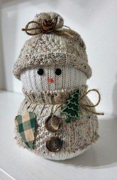 Mens Cotton Pocket Square - Christmas Snowmen Lights by VIDA VIDA AzhF7