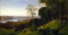Samuel Colman; Looking North from Ossining, New York, 1867; Oil on canvas. Hudson River Museum