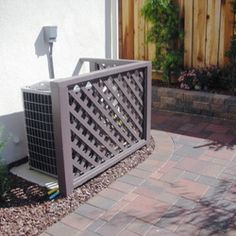 Square Lattice Enclosure For Air Conditioners Or Anything