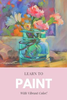 Paint with vibrant colors tutorial video by oil painter dreama tolle perry painting ideas > Oil Painting For Beginners, Oil Painting Techniques, Painting Videos, Painting Tutorials, Artist Painting, Painting & Drawing, Painting Abstract, Watercolour Painting, Watercolors