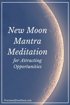 New Moon Mantra Meditation for Attracting Opportunities. Need some abundance in your life? Give this new moon meditation a try. This is a great new moon ritual to do every month. Love and light! New Moon Mantra Meditation for Attracti Mantra Meditation, Healing Meditation, Meditation Practices, Mindfulness Meditation, Mindfulness Practice, New Moon Full Moon, Full Moon Party, Dark Moon, Moon Spells